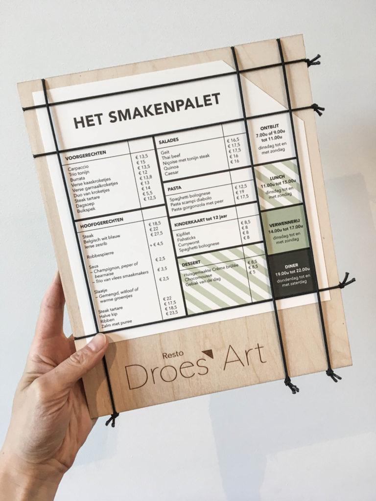 Resto Droes'Art, huisstijl, Atelier Kostum